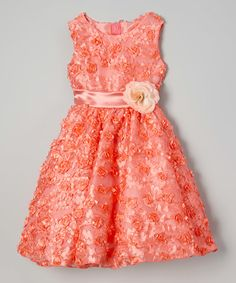 Coral Rosette Dress - Infant, Toddler & Girls