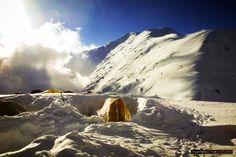 The summit ridge on a clear day! Peak Lenin, Kyrgyzstan.