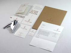 Clifton Arms stationery with copper spot, foil and embossed detail designed by Wash