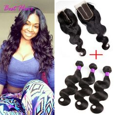 3/4 Bundles With Closure Efficient Blonde 27 Brazilian Hair Body Wave Bundles With Closure Pinshair Human Hair Weave 3 Bundles With Lace Closure Nonremy Thick Hair Superior Performance
