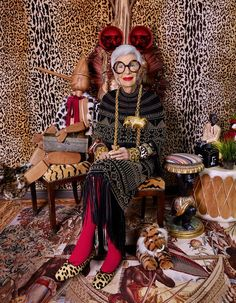 Style icon Iris Apfel by Luis Monteiro for How to Spend It Magazine. She is comfy in her own skin.