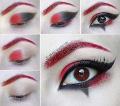 Harley Quinn makeup  eyeshadow tutorial