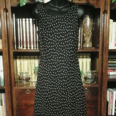 Sleeveless dress Black w/pink polka dots, 100% polyester  fully lined K studio Collection Dresses