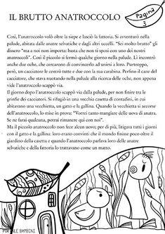 Il Brutto Anatroccolo: leggi questa bellissima fiaba | Portale Bambini Crazy Cat Lady, Crazy Cats, Italian Language, Playing Cards, Diagram, 1, Education, Learning, School