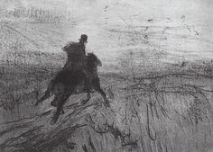 Valentin Serov - Pushkin in the village, 1899