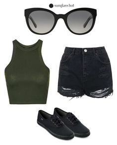 """""""Shades of You: Sunglass Hut Contest Entry"""" by lovestylex ❤ liked on Polyvore featuring Burberry, Topshop, Keds and shadesofyou"""