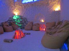 """Соляная комната - сайт санатория """"Куяльник"""" Spa Design, Bean Bag Chair, Table Lamp, Interior Design, Paper, Yoga, Furniture, Studio, Home Decor"""