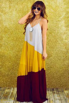 Seasonal Sensation Maxi Dress: Multi