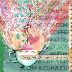 Art Journaling 102: Color Inspiration | Studio Tangie. Page by @Heather Sullivan aka sparklyduck71