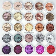 colourpop eyeshadow pigments...