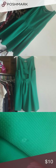 Xhilaration green dress Like new worn for only 2 hours to an event besides a small stain barely noticeable! Xhilaration Dresses Midi
