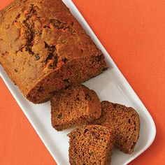 Carrot Bread with Apple Glaze. This low-fat, quick bread is a perfect pick-me-up, post-workout replenishment or after school snack. Add protein –and even richer flavor –with a dollop of natural, unsalted peanut or almond butter.