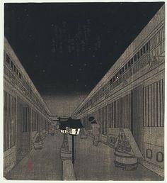 Night in the Yoshiwara, circa 1830 by Kunisada (1786 - 1864)