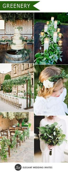 Green Wedding natural greenery wedding trends for 2017 2017 Wedding Trends, Wedding 2017, Wedding Themes, Trendy Wedding, Wedding Designs, Floral Wedding, Perfect Wedding, Wedding Colors, Wedding Styles