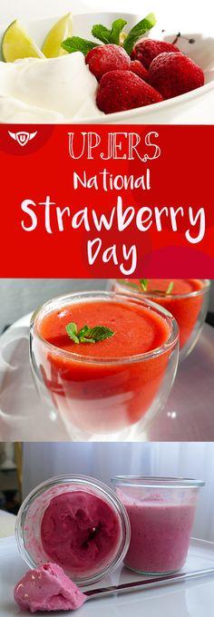 Zum Tag der Erdbeere finden nicht nur Aktionen in unseren Browsergames und Apps statt - wir haben auch gleich zwei tolle Rezepte mit Tiefkühl-Erdbeeren für euch ausprobiert: Erdbeer-Apfel-Smoothie mit Minze und Erdbeer-Joghurt-Eis mit Limette! #strawberry #recipe #Erdbeeren #Rezept #einfach #simpel #easyrecipes #strawberryrecipes #Erdbeerrezept