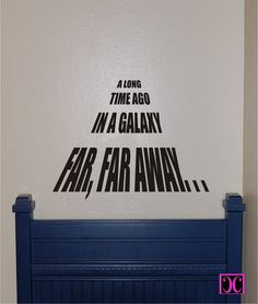 Star Wars A Long Time Ago Vinyl Wall Decal by Charminglcustoms, $24.00