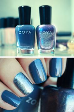 Zoya Fall 2012: Natty layered with FeiFei (except on accent nail). Love the resulting colour!