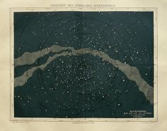 1890 Antique MILKY WAY print. Map of by AntiquePrintsOnly on Etsy