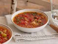 Manhattan Clam Chowder : This chowder recipe from Food Network Kitchen gives the New England variety a run for its money. Since Manhattan Clam Chowder doesn't require milk or cream, it's much lighter, getting its robust flavor from minced clams, garlic and roughly chopped tomatoes.