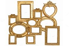 Check out Baroque golden framework by LiliGraphie on Creative Market