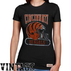 ed9029f8cda Mitchell   Ness Cincinnati Bengals Ladies Vintage Graphic Premium T-Shirt -  Black