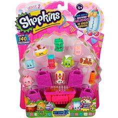 Mais Shopkins para colecionar, e além disso, sacolas e uma linda cestinha para carregar novas compras! Tenha sorte e ache a edição especial de congelados Shopkins!