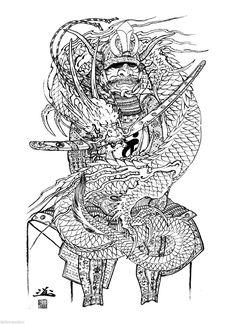 100 DRAGONS Japanese Tattoo Master Horiyoshi III Reference Digita ...