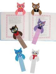 owl bookmarks - plastic canvas