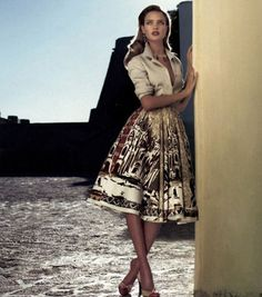 The beautiful Russian model Natalia Vodianova is back, and this time in a different era. You may remember her from A Classic Beauty, in which she was a star reminiscent of a young, Hollywood starlet. For this photo shoot, she dons retro outfits...fitting for the '50s or '60s.via [Who Designed It?]