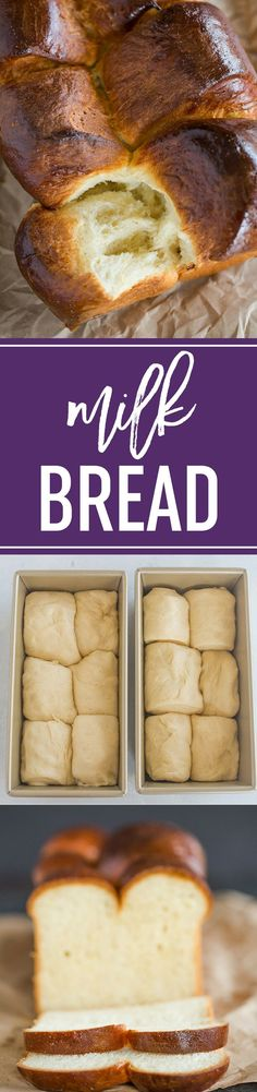 Milk Bread! A fabulous recipe for the iconic soft and fluffy bread that can be made into loaves, pull-apart bread, rolls, or split-top buns. #bread #baking #yeast via @browneyedbaker