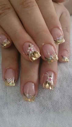 43 Best Spring Nail Art Designs to Copy in 2019 Spring Nail Art, Nail Designs Spring, Cool Nail Designs, Spring Nails, Stylish Nails, Trendy Nails, Cute Nails, My Nails, Nail Art Design 2017