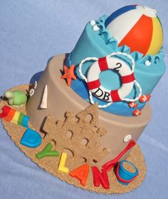 Adorable Beach Party cake