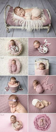 9 day old Charlotte and her pretty pink studio newborn photo shoot with Sunny S-H Photography Winnipeg