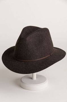 56963e5178a8c Edward Crushable Wool Felt Safari Hat