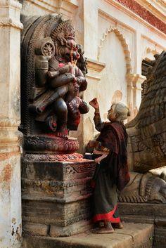 Newari woman worship Narasimha
