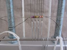 How to Set Up Your Loom with A Loom Trapeze and paper clips for No-Warps Loom Beading - from Mirrix   #Seed #Bead #Tutorials