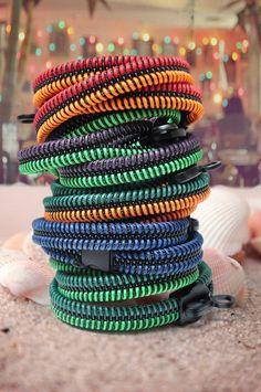 Wire bracelets zipper jewelry colorful by SakuraZIPPERjewelry, $56.93