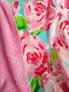 Lilly Pulitzer Blanket  Lilly Pulitzer Throw by SweetBabyBurpies