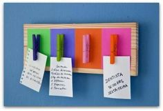 Porta notas, encuentra más DIY para decorar en http://www.1001consejos.com/diy-para-decorar/