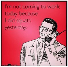 #squats #crossfit @Jennifer Acey I wonder if Rob & my boss would think this is a legitimate excuse...