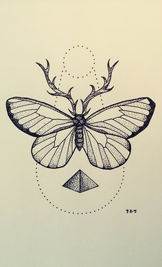 Original geometric dotwork design, drawn with black ink fineliner. Inspired by Andrey Svetov's tattoo designs. Butterfly Tattoos For Women, Butterfly Tattoo Designs, Et Tattoo, Cover Tattoo, Tattoo Sketches, Tattoo Drawings, Tattoo Papillon, Borboleta Tattoo, Butterfly Sketch