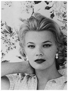 Gena Rowlands, 1958. Me gusta mucho Gena, ademàs de belleza posee misterio, embrujo..
