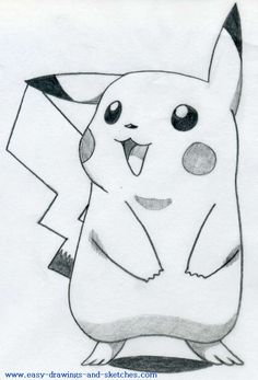 how to draw pikachu 1