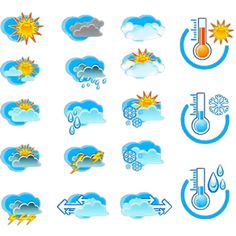 Find Weather Forecast Vector Icone Set Thermometers stock images in HD and millions of other royalty-free stock photos, illustrations and vectors in the Shutterstock collection. Weather Icons, Weather Forecast, Bullet Journal Inspiration, Martini, Arts And Crafts, Logo Design, Clip Art, Kids Rugs, Chart