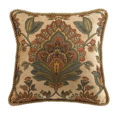 Croscill Minka 18x18 Square Throw Pillow (Pillows)