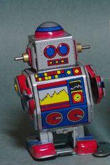 ✝☮✿★ ROBOT ✝☯★☮  Wind Up Walking Robot