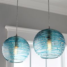 Swirling Glass Globe Pendant Light - Shades of Light