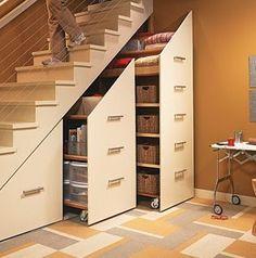 Blog da Ani: Como aproveitar o espaço debaixo da escada