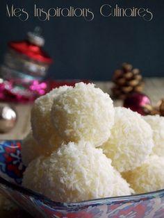 Truffes chocolat blanc et noix de coco Fun Foods To Make, Food To Make, Cake & Co, Biscuit Cookies, Samar, Christmas Baking, Junk Food, Chocolate Recipes, Vanilla Cake
