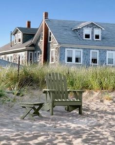 Oh look! There's even a table for my glass of wine. (this looks like the cottage my cousin Lynda rented in OOB! Coastal Cottage, Coastal Homes, Coastal Living, Beach Homes, Cottages By The Sea, Beach Cottages, Tiny Cottages, Les Hamptons, Dream Beach Houses